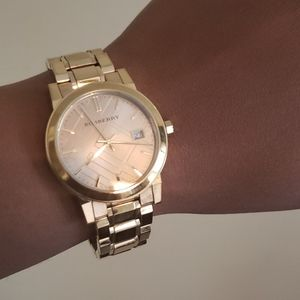 Authentic Burberry City Gold Swiss Made Watch